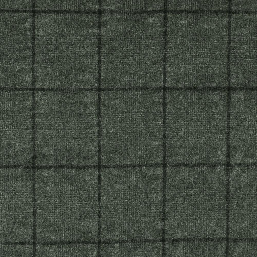 22027 Medium Grey Glen with Tonal Windowpane Check Flannel