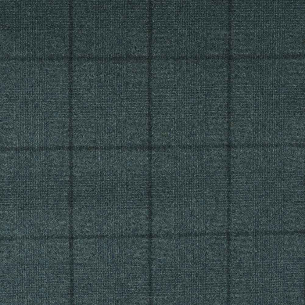 22028 Pale Blue Glen with Tonal Windowpane Check Flannel