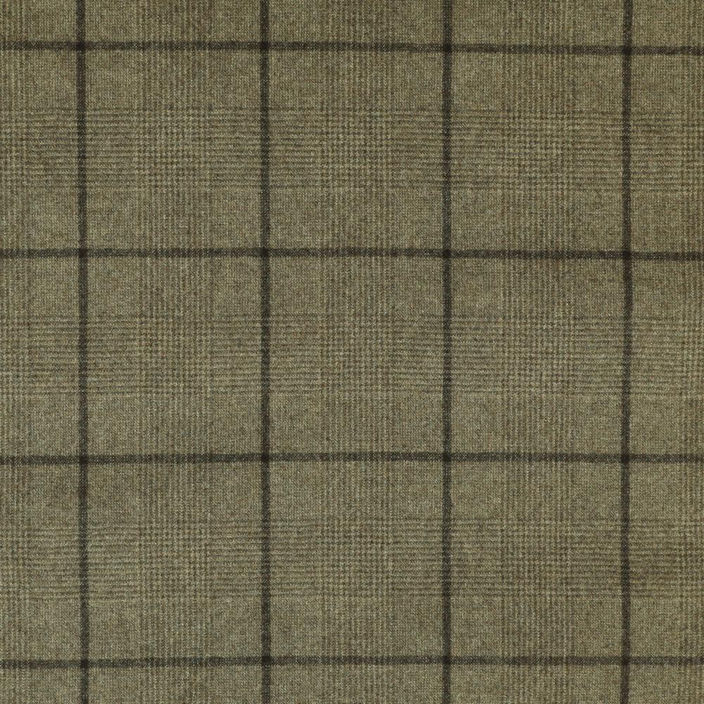 22029 Beige Brown Glen with Tonal Windowpane Check Flannel