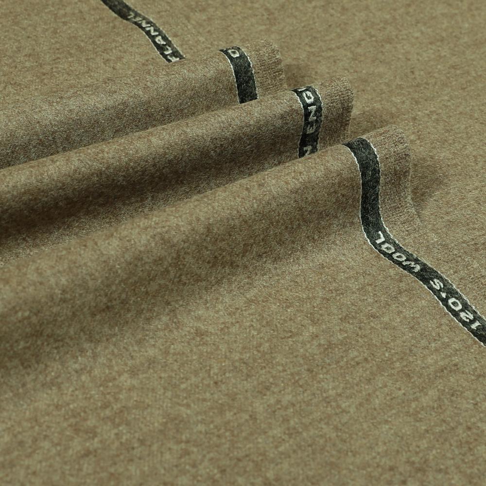 22046 Beige Brown Plain Flannel