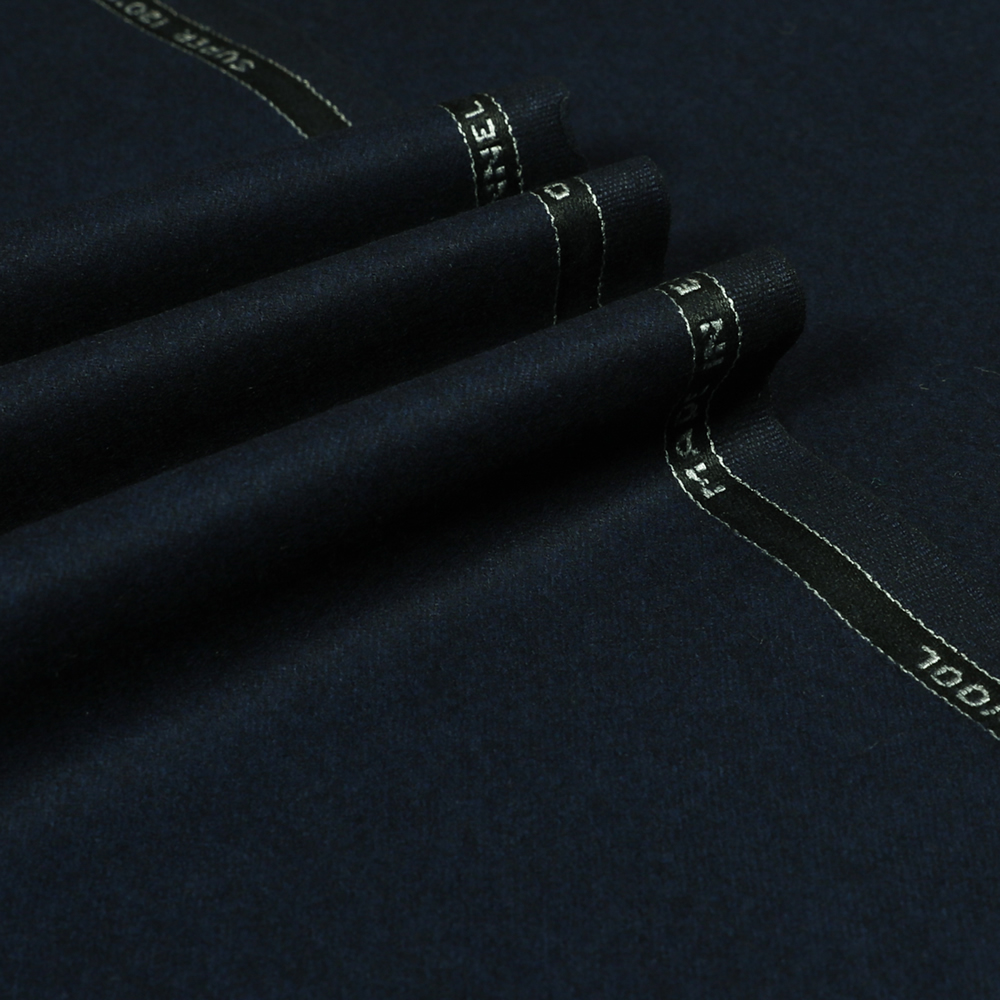 22066 Navy Blue Plain Flannel