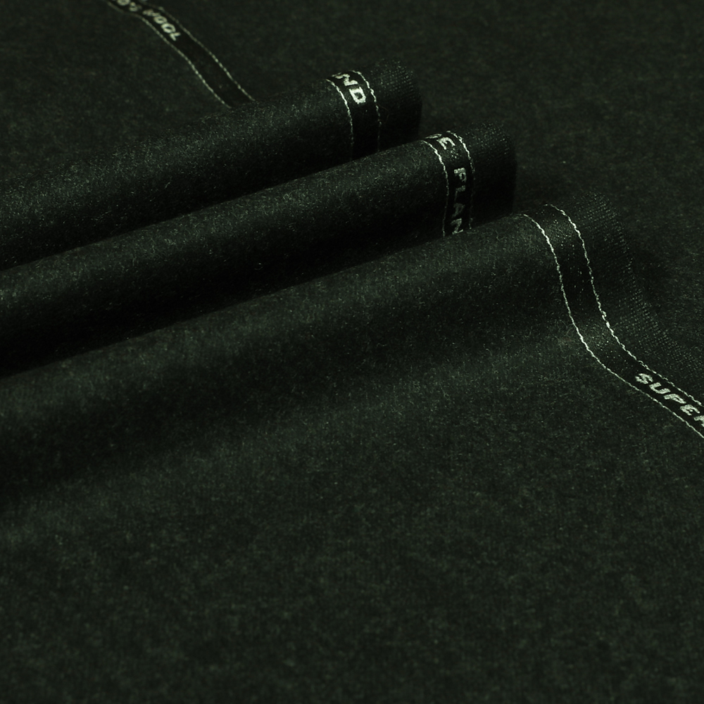 22073 Charcoal Grey Plain Flannel