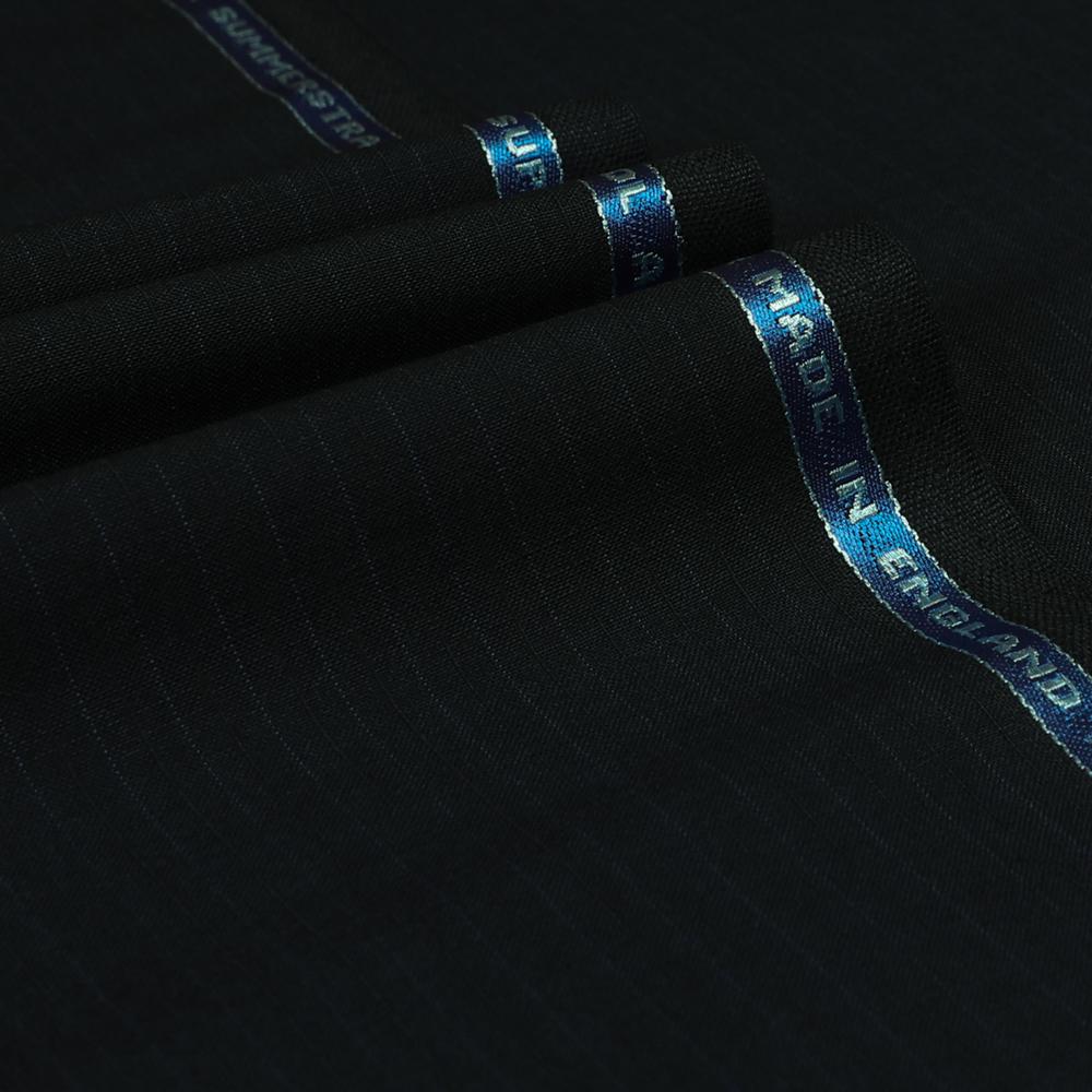 24021 Navy Blue Fancy Cord Stripe