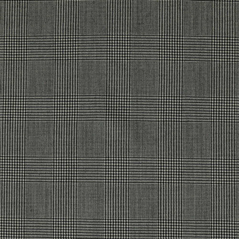 25000 Black and White Prince of Wales Check 2/2 Twill