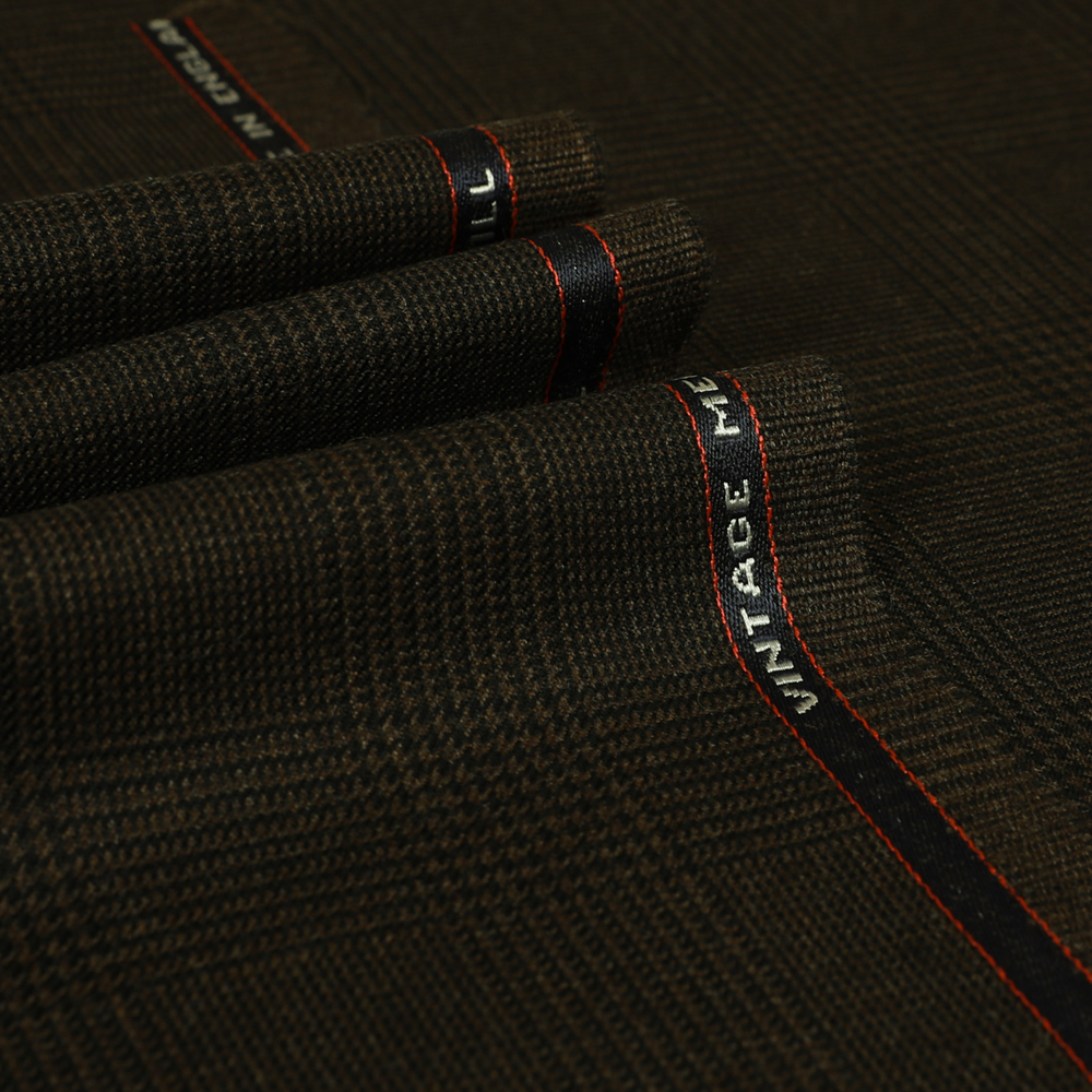25004 Brown Prince of Wales Check 2/2 Twill
