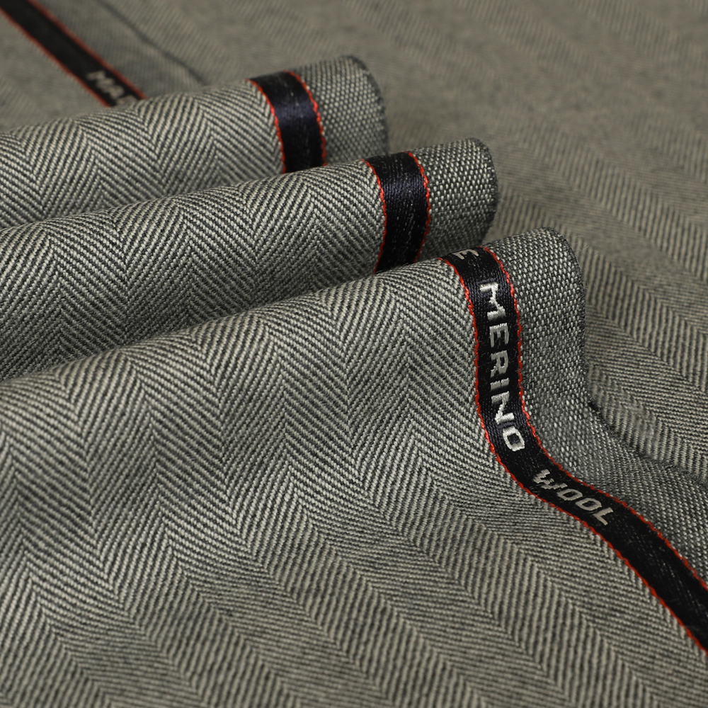 25005 Light Grey Herringbone 2/2 Twill