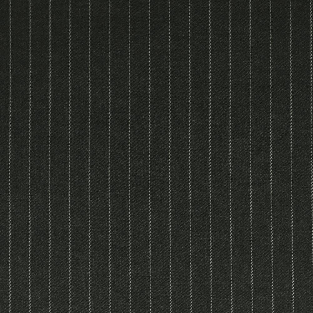 25015 Charcoal Grey Wide Chalk Stripe 2/2 Twill