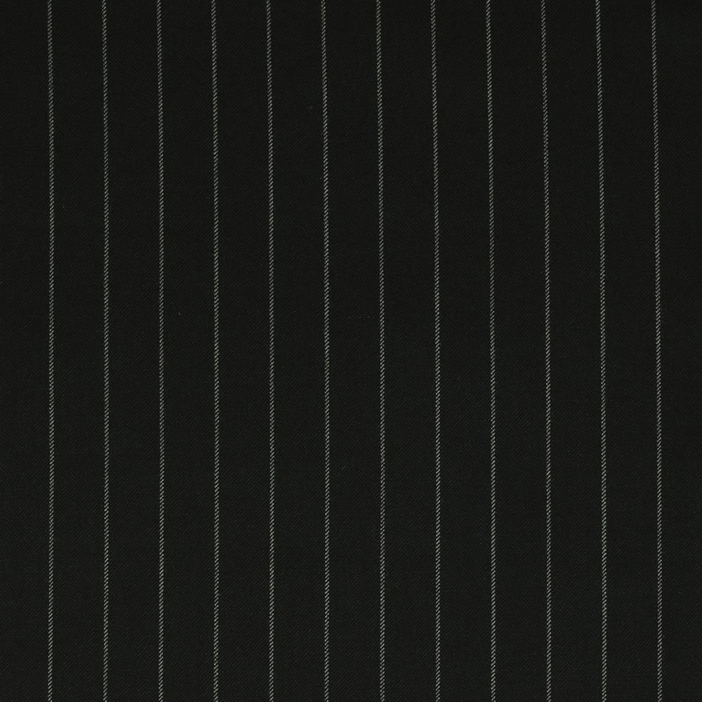 25016 Black Wide Chalk Stripe 2/2 Twill
