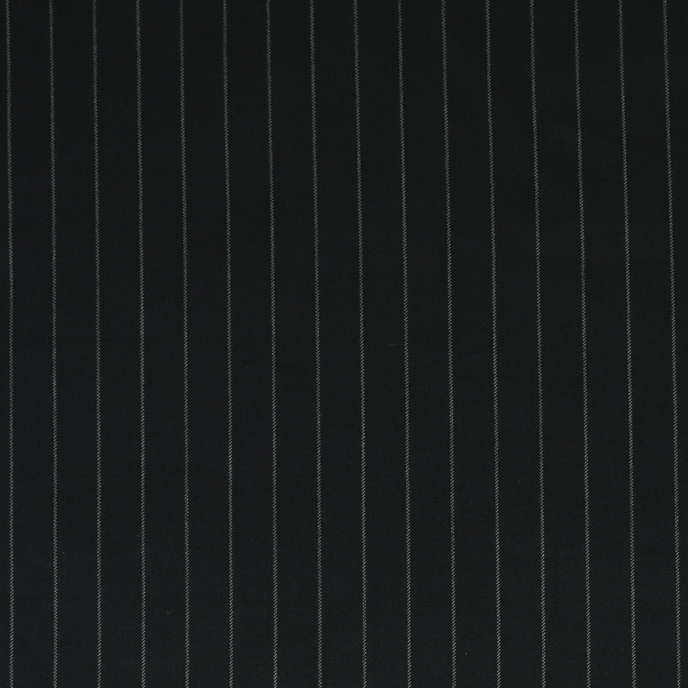 25017 Navy Blue Wide Chalk Stripe 2/2 Twill