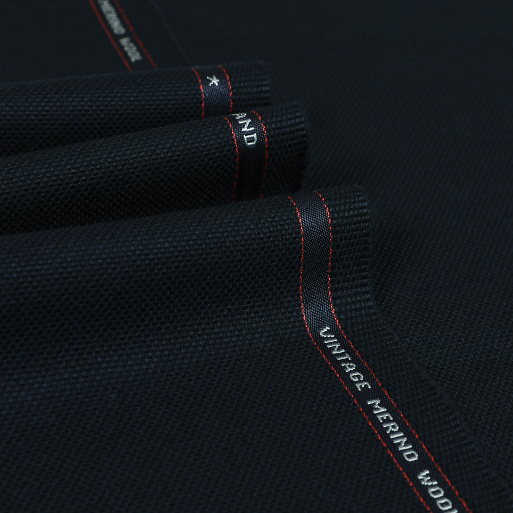 25018 Navy Blue Double Hopsack 2/2 Twill