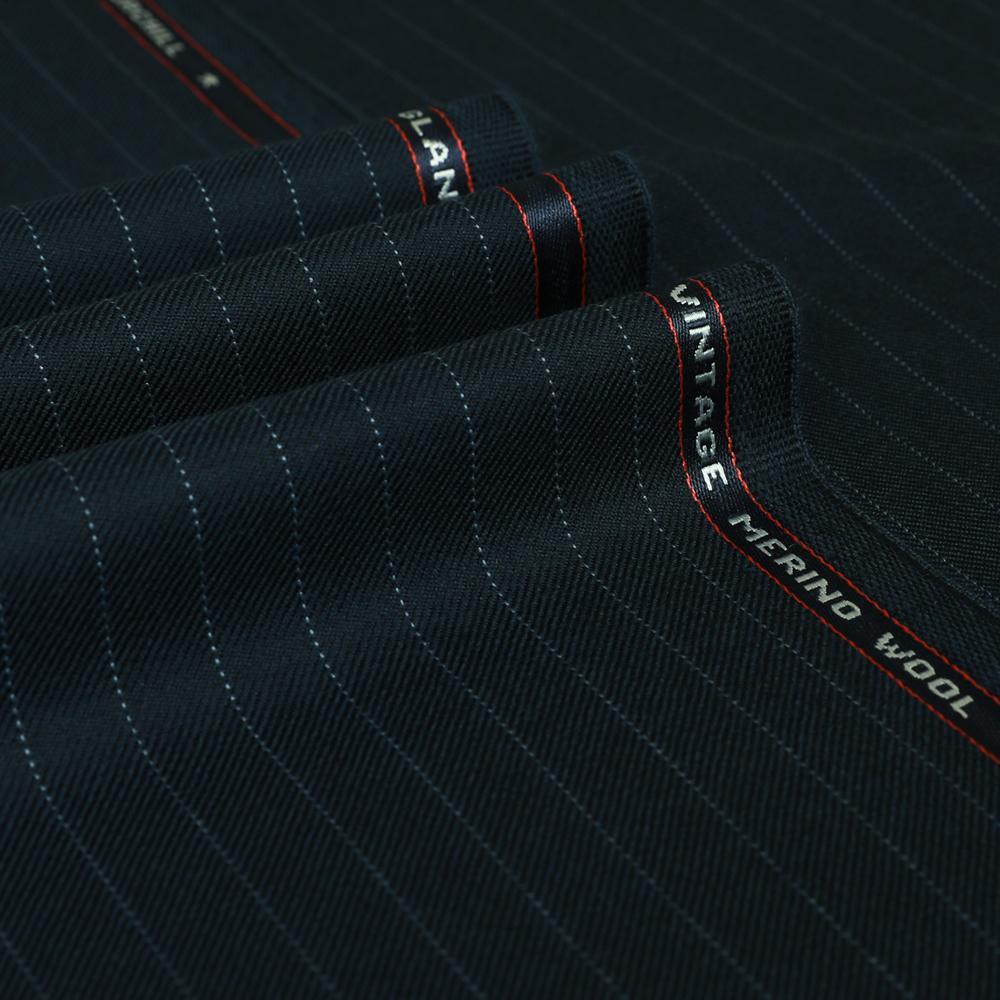 25025 Navy Blue Pin Dot Stripe 2/2 Twill