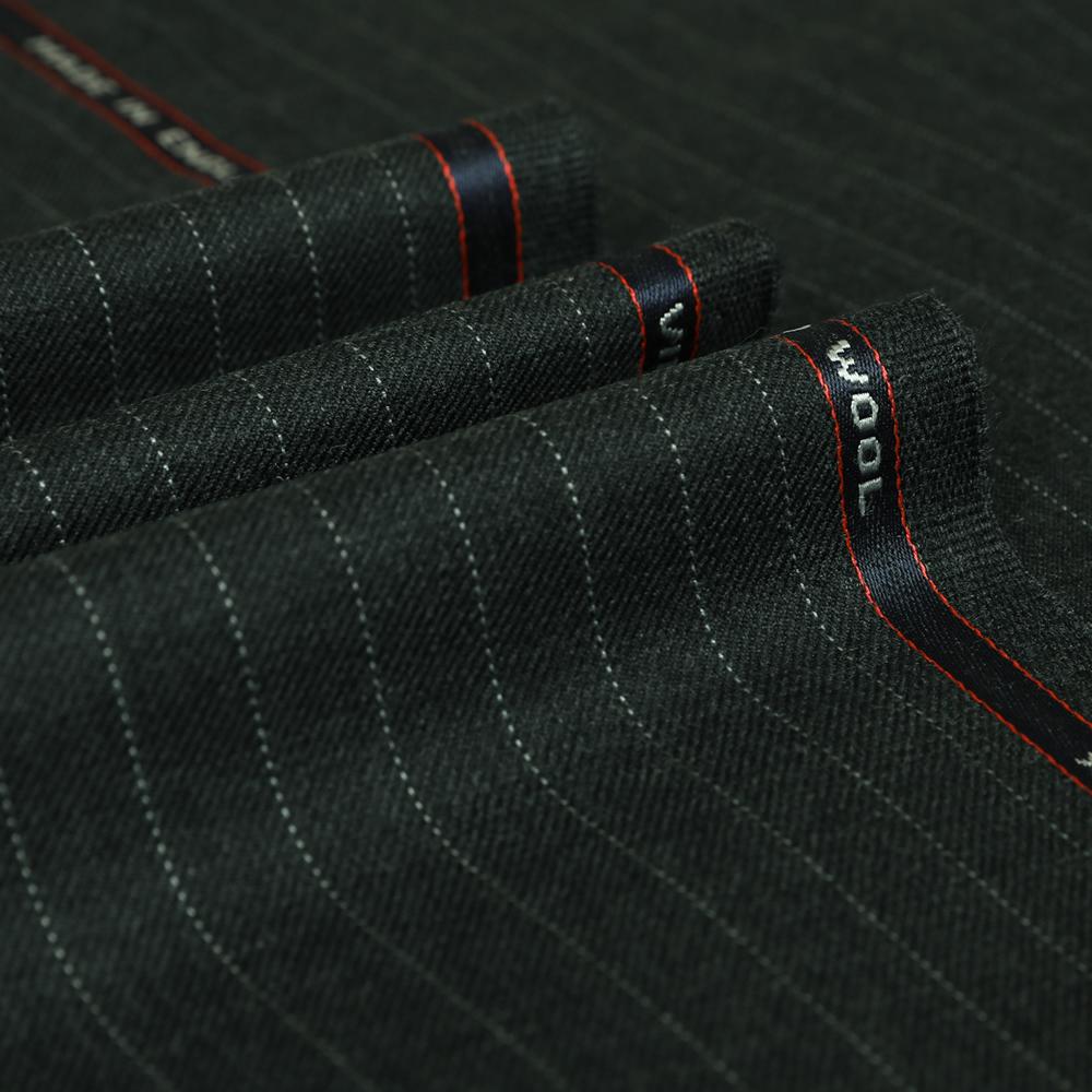 25027 Medium Grey Pin Dot Stripe 2/2 Twill