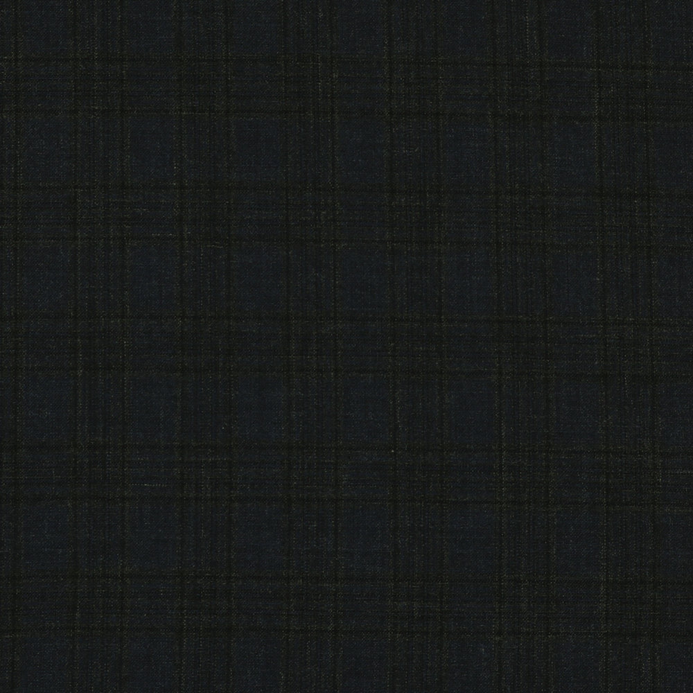 27004 Navy Blue Fancy Check