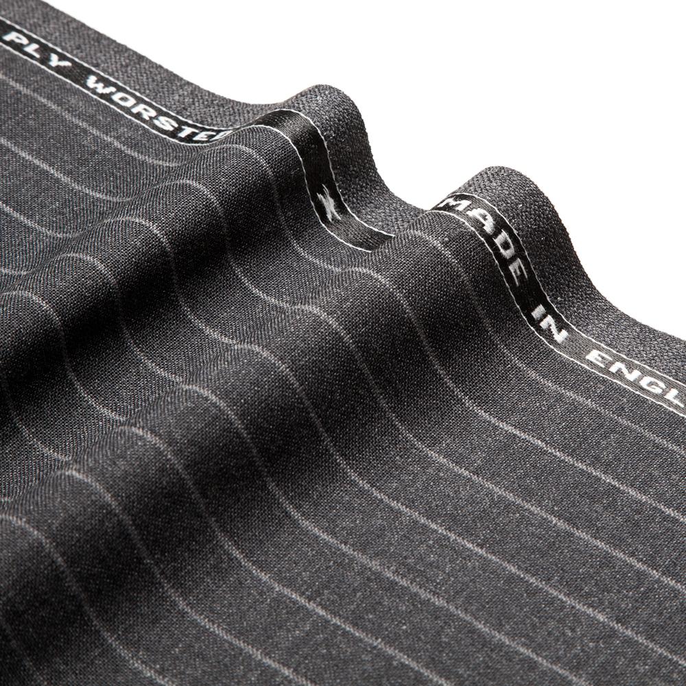 27021 Charcoal Grey Wide Chalk Stripe