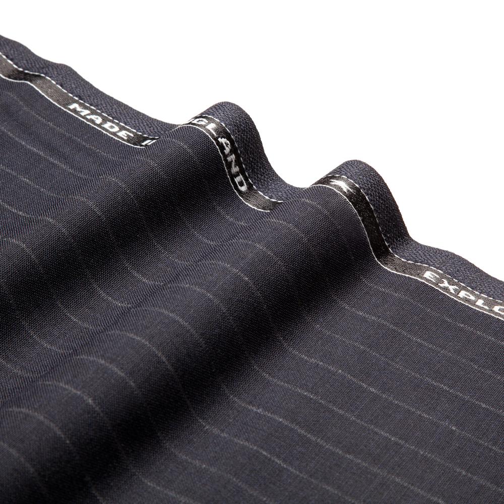 27022 Midnight Blue Wide Chalk Stripe