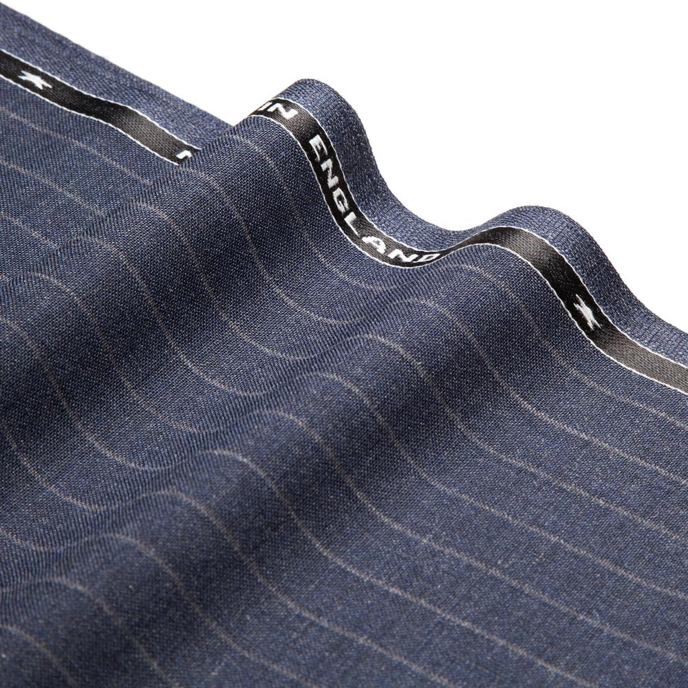 27023 Medium Blue Wide Chalk Stripe