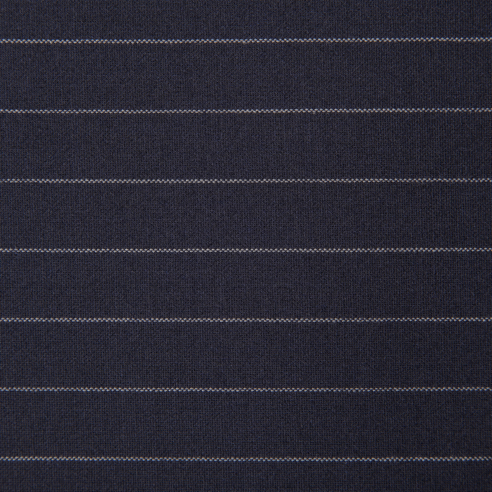 27053 Dark Navy Blue Chalk Stripe