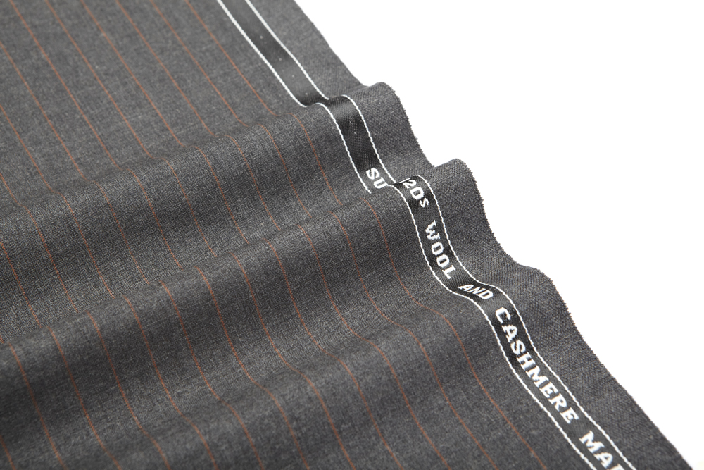 27056 Dark Grey coloured Pin Stripe