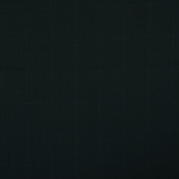 3037 Navy Blue Sharkskin with Blue Windowpane Check