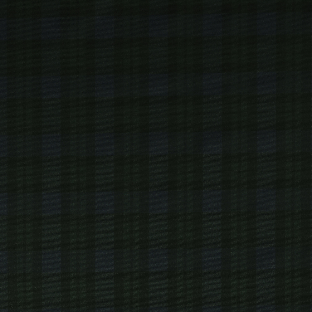 3061 Navy Blue and Bottle Green Blackwatch Tartan