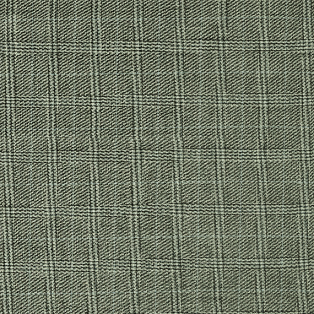 3067 Black and White Glen Check with Blue Overcheck