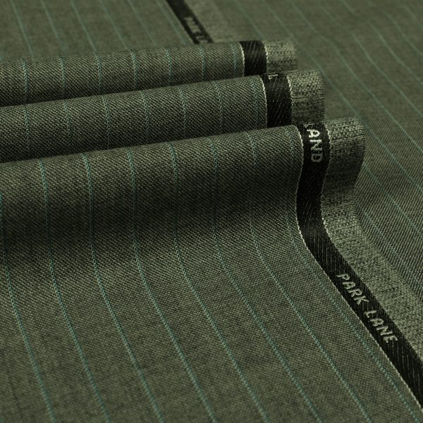 3078 Medium Grey with Light Blue Stripe