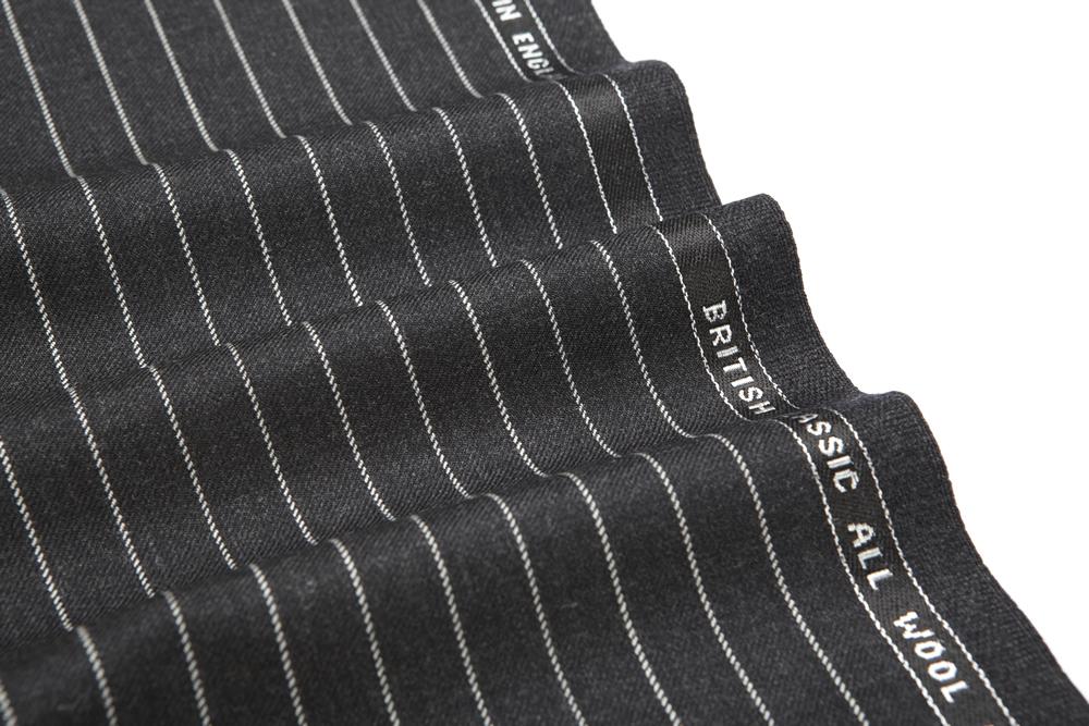 4017 Charcoal Grey Chalk Stripe