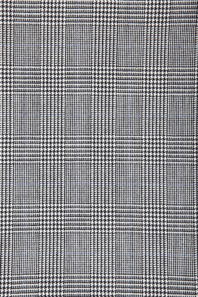 4029 Black and White Glen Check