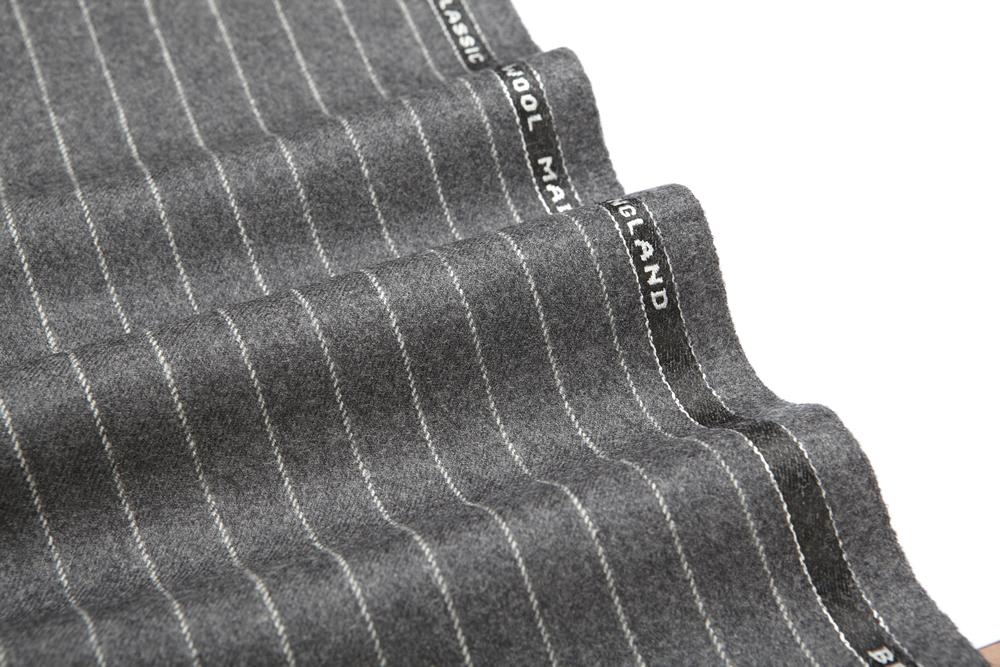 4034 Medium Grey Chalk Stripe Flannel