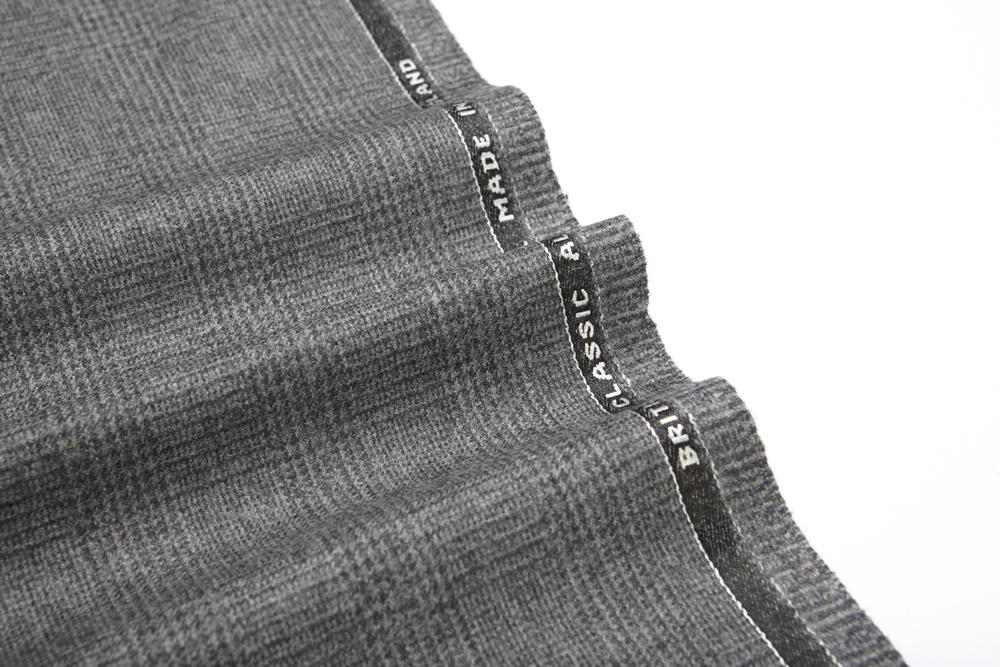 4037 Light Grey Glen Check Flannel