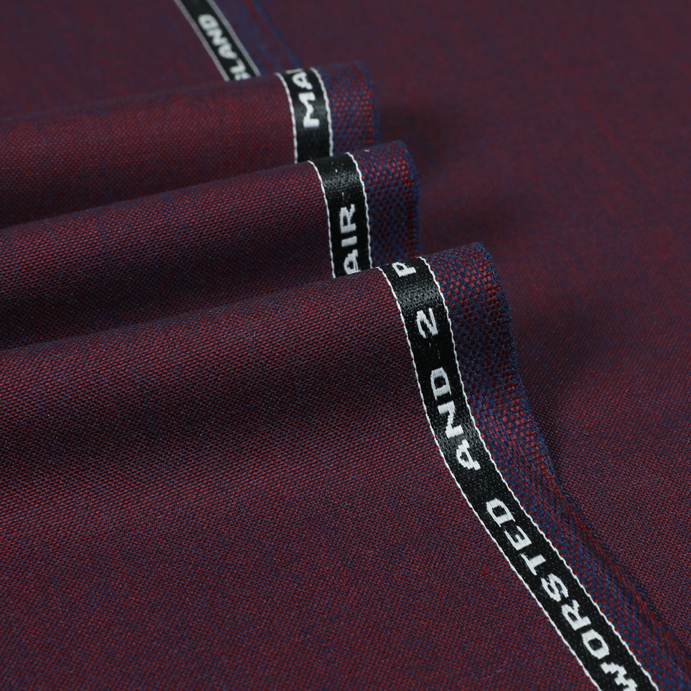 6042 Claret Red 2 Tone 2 Ply Plain
