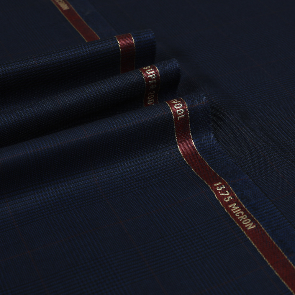 7102 Royal Blue Glen with Red Windowpane Check