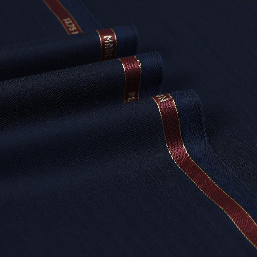 7113 Navy Blue Narrow Herringbone