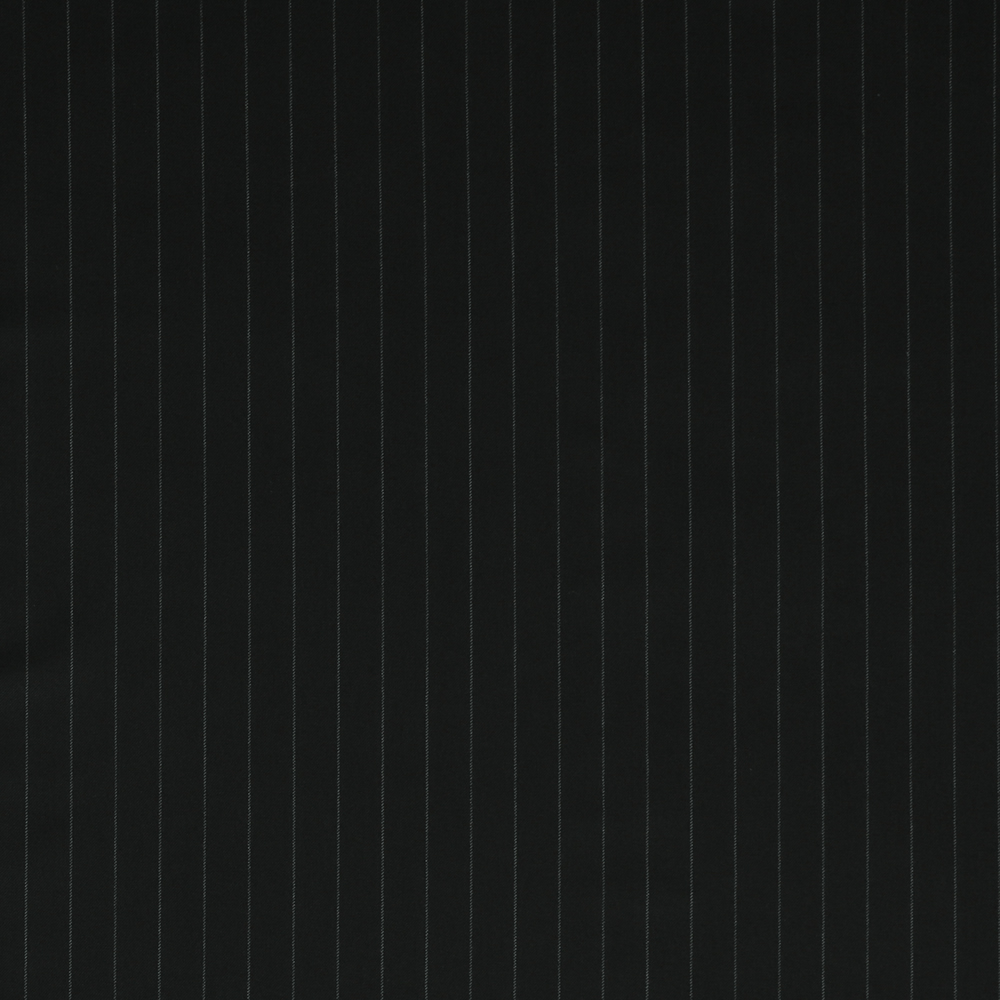 7124 Black Wide Chalk Stripe